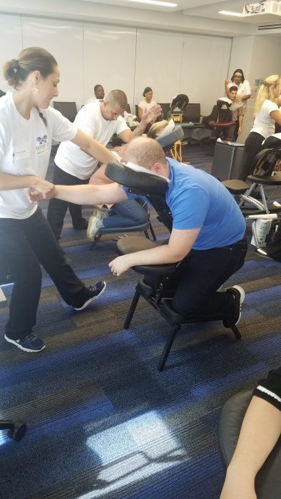Corporate Chair Massage, Convention Chair Massage, On site ...